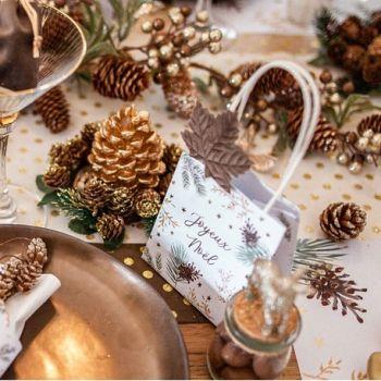 4 Mini sacs cadeaux Noël nature