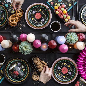 6 assiettes Dia de los muertos 18cm