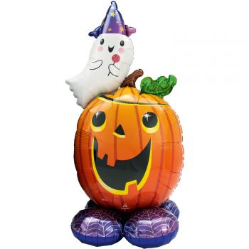 Ballon géant à poser Airloonz Citrouille Fantôme d'Halloween