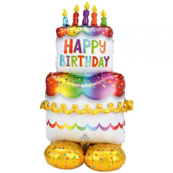 Ballon géant à poser Airloonz birthday cake
