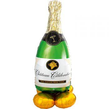 Ballon géant à poser Airloonz bouteille de champagne