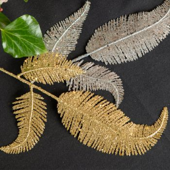 Feuille de palme pailleté or