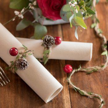 Guirlande Noël décors rouge