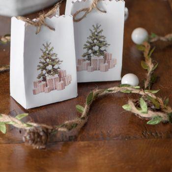Guirlande Noël décors blanc