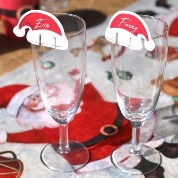 48 marque verre bonnet Père Noël