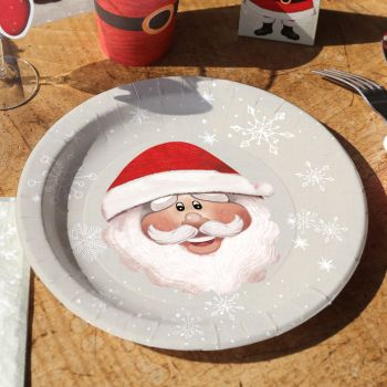 10 assiettes Père Noël et jouets