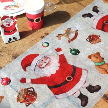 Chemin de table Père Noël et jouets