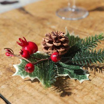 2 piquets Noël tradition