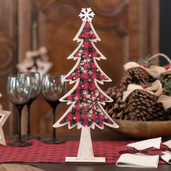 Décor Sapin de Noël écossais 38cm