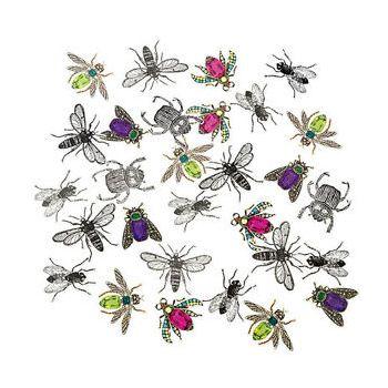 300 Confettis en carton insectes