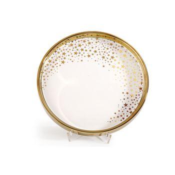 Plateau étoilé blanc et or