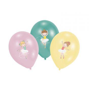 6 Ballons latex Petite danseuse