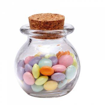 10 Mini Pot rond en verre