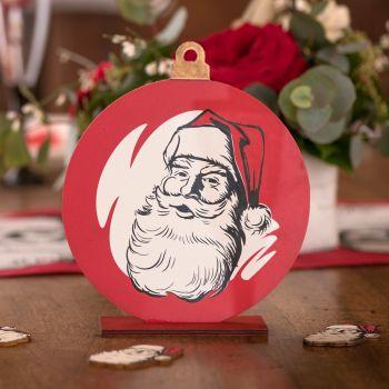 Décor en bois Père Noël d'antan
