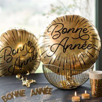 Ballon alu Bonne année étincelant or