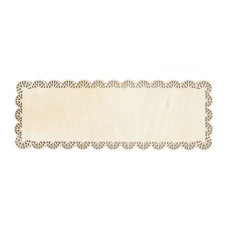 Plat à gâteau rectangle dentelle bois pour présenter vos bûches et cakes.Très tendanceet beaucoup + respectueux de...