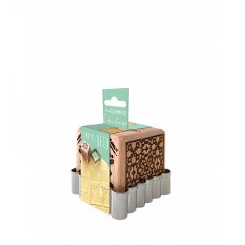 Cube tampons à biscuit en bois Déco + emporte pièce Scrapcooking