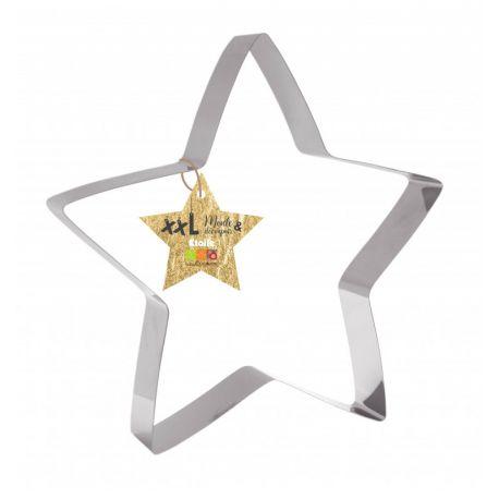 Moule découpoir XXL en forme d'étoile: à la fois moule et découpoir en inox !Parfait pour cuire une génoise, dresser un entremet, ou...