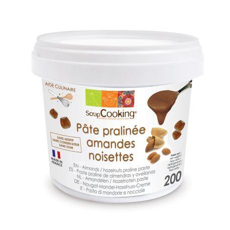 Pâte de praliné amandes-noisettes 200 g, à incorporer dans vos pâtisseries. Sans colorant.A utiliser dans vos muffins,...