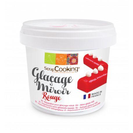 Réalisez un glaçage miroir rouge ultra brillant sur vos entremets glacés grâce à cette préparation en poudre !Poids net :...