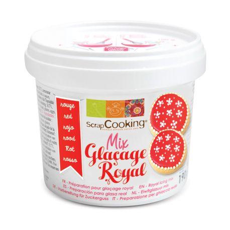 Pot mix glaçage royal rouge parfait aussi bien pour recouvrir les biscuits d'un glaçage bien lisse que pour faire des décors de...