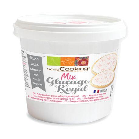 Pot mix glaçage royal blanc 190 gr parfait aussi bien pour recouvrir les biscuits d'un glaçage bien lisse que pour faire des décors de...