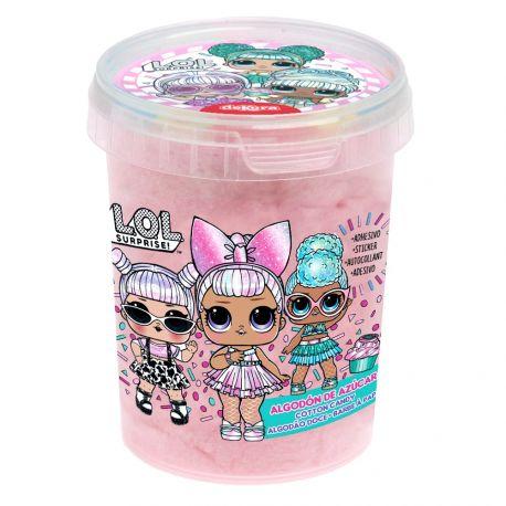 Pot de barbe à papa individuel sur le thème Lol surpriseChaque pot contient 1 autocollant à collectionnerPoids net 30grPoids...