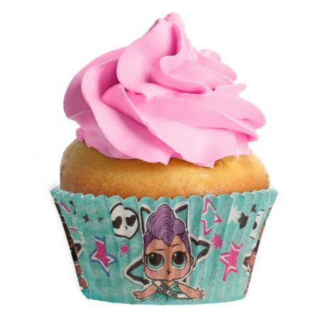 Paquet de 25 caissettes à l'effigie de LOL surprise pour réaliser des muffins ou cupcakeA utiliser avec moule à muffins...