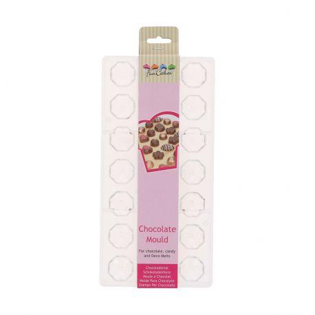 Créez de jolis chocolats finement détaillés grâce au moule en forme de diamant de FunCakes.Ce moule à...