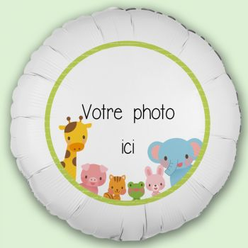 Ballon personnalisé décor Jungle Baby