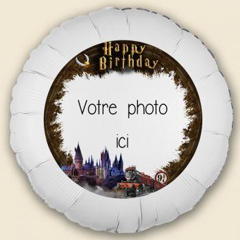 Ballon personnalisé décor Sorcier