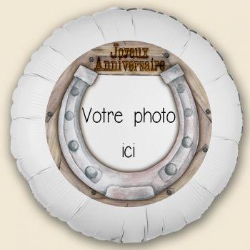 Ballon personnalisé décor Passion Cheval