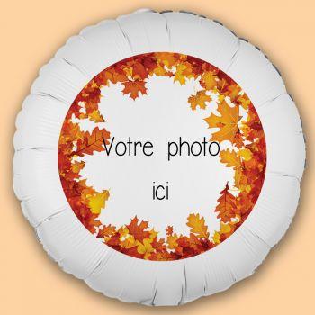 Ballon personnalisé décor automne