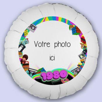 Ballon personnalisé décor Année 80