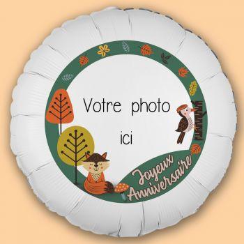 Ballon personnalisé décor Animaux de la forêt