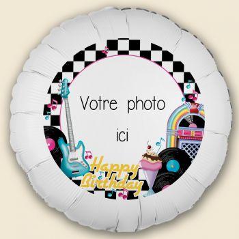 Ballon personnalisé décor Année 50