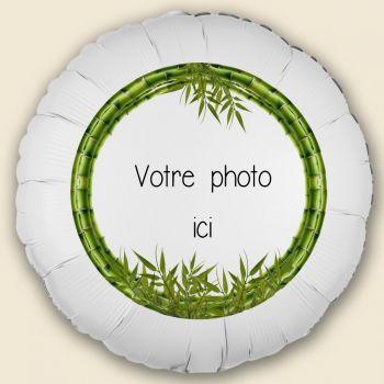 Ballon personnalisé décor Bambou