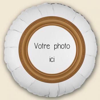 Ballon personnalisé décor Cadre or