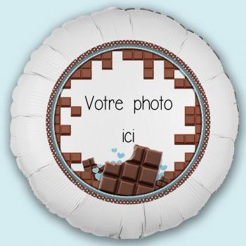 Ballon personnalisé décor Chocolat