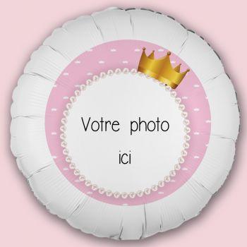 Ballon personnalisé décor Princesse Couronne