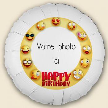 Ballon personnalisé décor Smiley