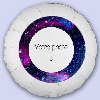 Ballon personnalisé décor Glaxie
