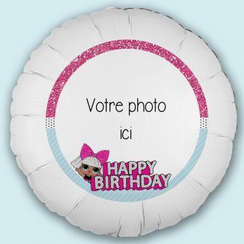 Ballon personnalisé décor Lol Surprise