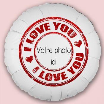 Ballon personnalisé décor Tampon Love