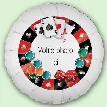 Ballon personnalisé décor Poker