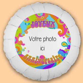 Ballon personnalisé décor Color Pop