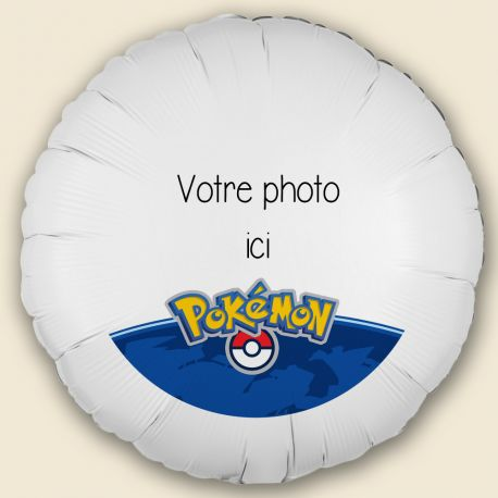 Créez la surprise avec ce ballon décor Pokemonà personnaliseravec vos photos et messages personnels. Idéal pour la deco de vos fêtes...