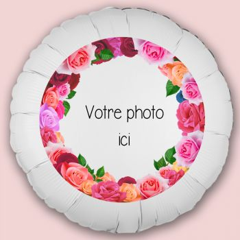 Ballon personnalisé décor Roses