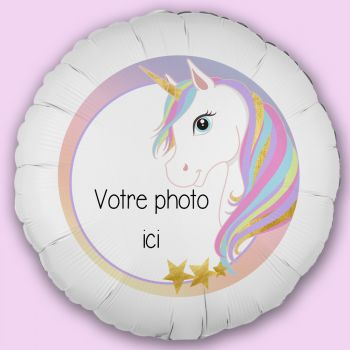 Ballon personnalisé décor Licorne