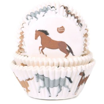 50 Caissettes cupcakes cheval